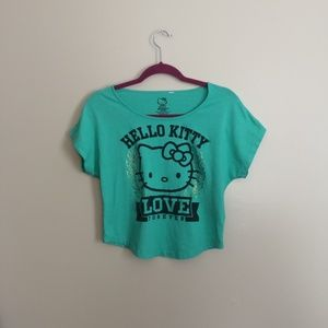 Sanrio Hello Kitty Cropped Graphic T-shirt